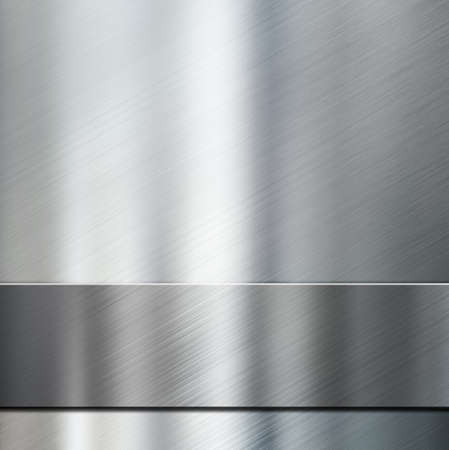 grey background texture: metal stripe over brushed metallic background 3d illustration