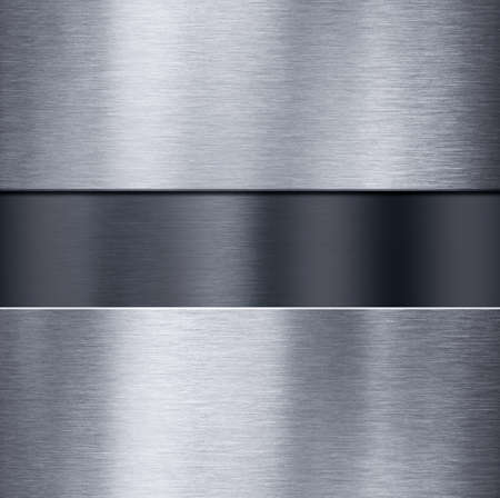 brushed steel: metal plates over dark brushed metallic surface