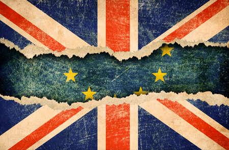 欧州連合 brexit の 3 d 図からイギリスの撤退