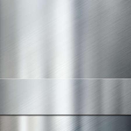 steel sheet: metal stripe over brushed metallic background 3d illustration