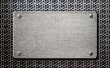 hexadecimal: metal plate over comb background 3d illustration