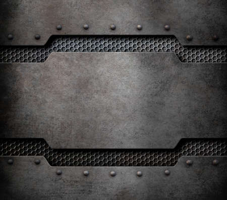 alloy: metal plaque background with rivets 3d illustration