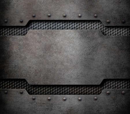 rivets: metal plaque background with rivets 3d illustration