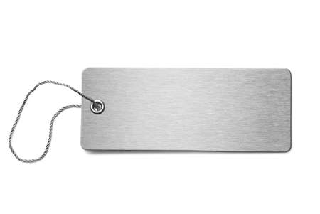 dogtag: Blank metal dog tag isolated 3d illustration