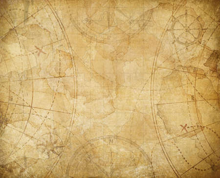 Aged treasure map illustration background