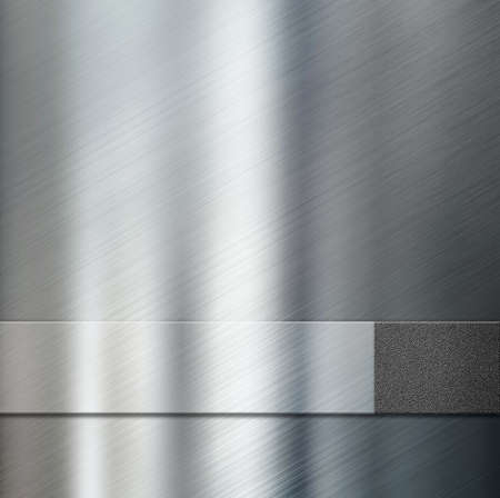 industry pattern: metal stripe plate over metallic background 3d illustration Stock Photo