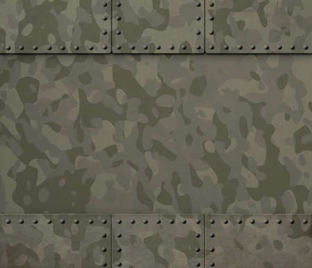 rivets: military metal background with camouflage and rivets