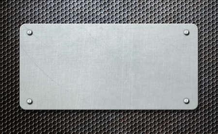 metal plaque over comb background 3d illustration Stock fotó