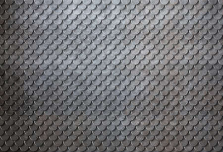 Rusty metal scales armor background or backdrop