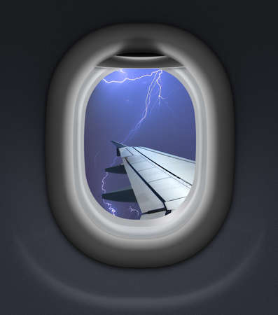 jet airplane: airplane or jet window with thunderbolt behind it
