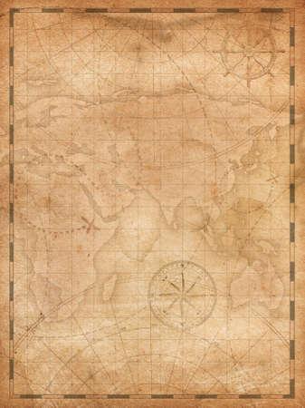 pirates treasure map vertical background illustration