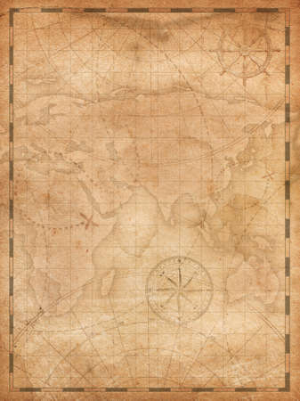 pirates treasure map vertical background illustration Stock fotó - 85386610