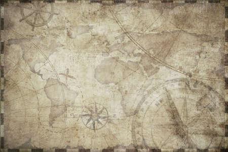 treasure map toned background illustration 版權商用圖片