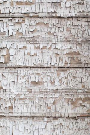 Vintage wood background with old cracky white paint Reklamní fotografie