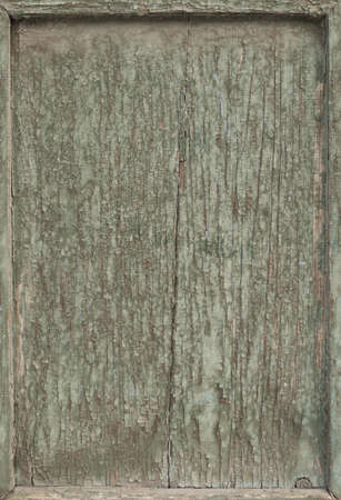 Vintage wood frame background with old cracky green paint