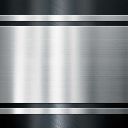 Metal background with brushed steel or aluminum 3d illustration Stock Photo