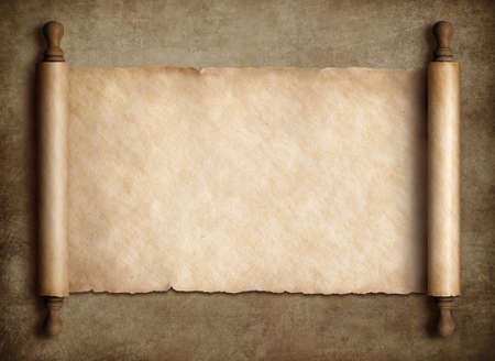 scroll parchment over old paper background