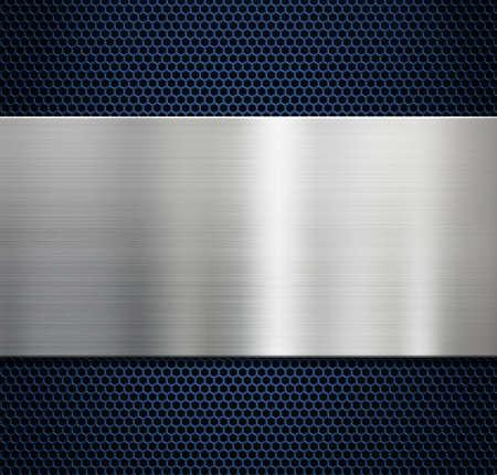 Metal background with brushed aluminum panel 3d illustration