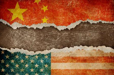 trade war between USA and China Archivio Fotografico - 104356583