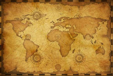 Carte du vieux monde dans un style vintage. Banque d'images
