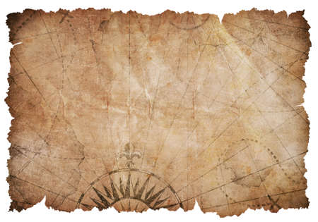 Old torn vintage nautical map 免版税图像