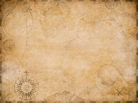 medieval nautical reasure map background 免版税图像