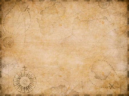 mittelalterlicher nautischer Kartenhintergrund Standard-Bild