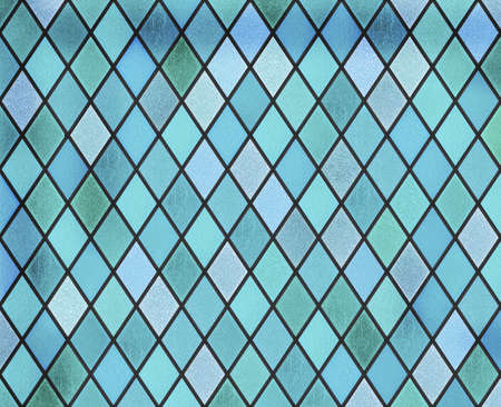 abstract stained glass blue window pattern Standard-Bild - 116952676