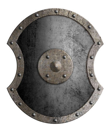 Large metal shield isolated 3d illustration Standard-Bild - 117269174