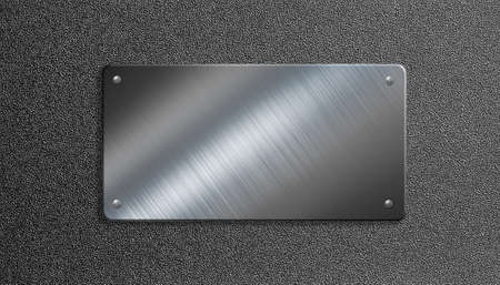 metal plate with rivets 3d illustration
