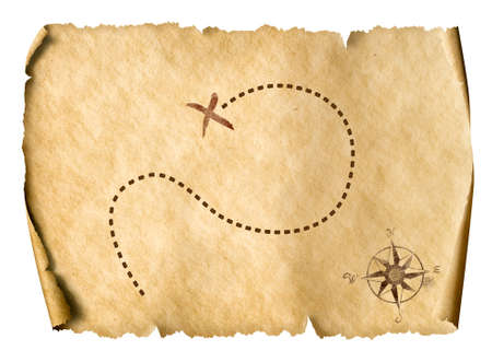 treasure map isolated simple 3d illustration Standard-Bild - 117269217