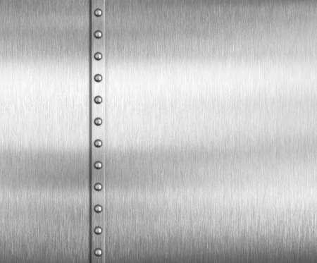 Metal brushed steel or aluminum background with rivets Standard-Bild - 116952678