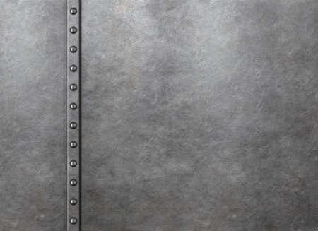 Metal rustic armor background with rivets 3d illustration Standard-Bild - 119270086