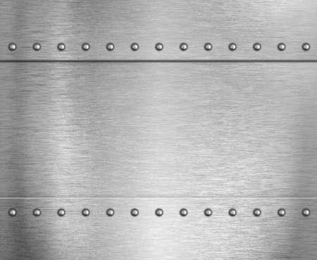 Metal steel armor background with rivets 3d illustration Standard-Bild - 119270094