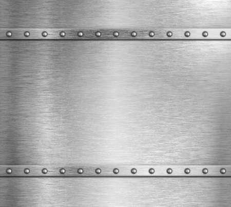 Metal steel background with rivets 3d illustration Standard-Bild - 119270096