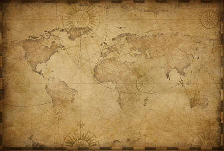 Vintage old world map illustration Standard-Bild - 119270097