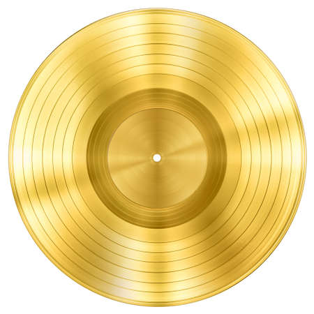 gold record music disc award isolated on white Standard-Bild - 119269847