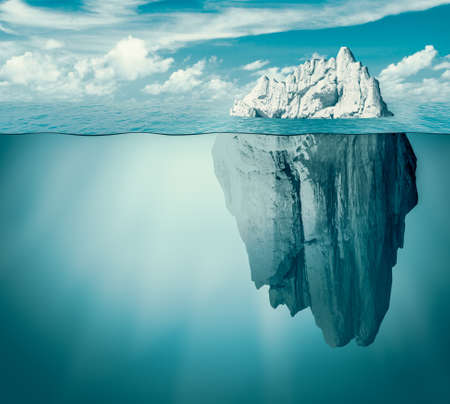 Iceberg in ocean as hidden danger concept Standard-Bild - 119269856