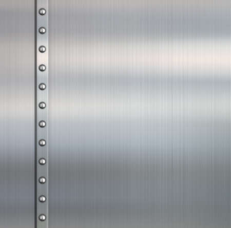 Metal brushed steel pipe background Stock Photo