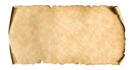 vintage paper sheet isolated on white Standard-Bild - 119269780