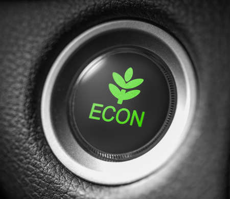 Car econ button close up shot 写真素材