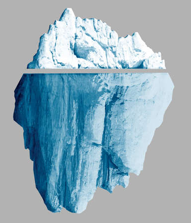 Iceberg isolated with clipping paths included 3d illustration Stock fotó