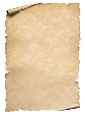 Old paper textured sheet isolated on white Banco de Imagens