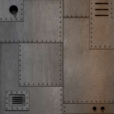 rusty steam punk metal conctruction background