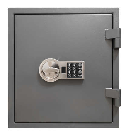 Small safe box isolated with clipping path included Archivio Fotografico