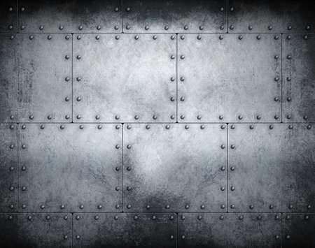 Dark steampunk metal background 3d illustration 스톡 콘텐츠