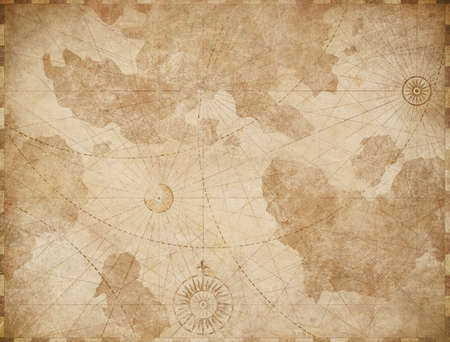 Abstract old nautical vintage map background
