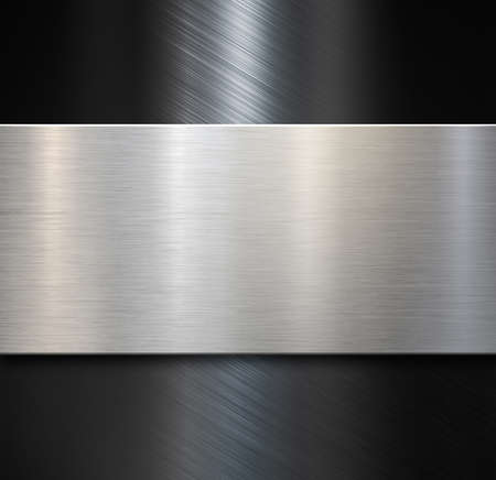 Brushed steel or aluminum metal background