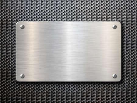 metal plate over rustic grate