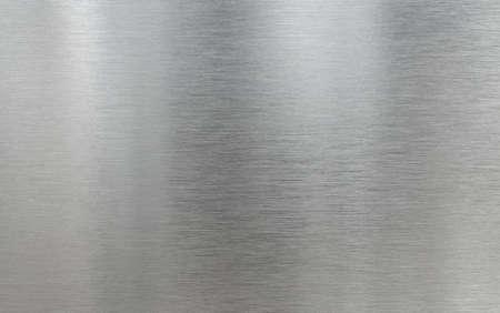 Fondo de textura de aluminio cepillado de metal real Foto de archivo
